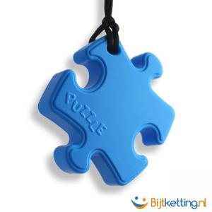 bijtketting puzzle puzzel puzzelstuk lichtblauw