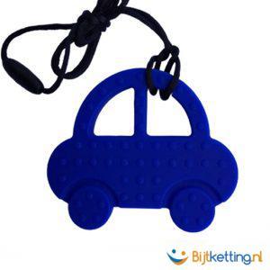 bijtketting auto autootje blauw