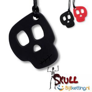 schedel skull bijtketting