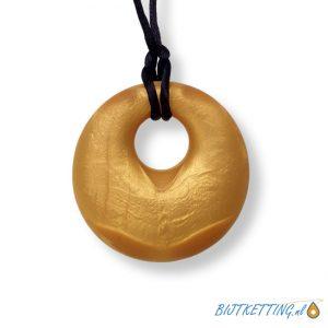 round rond cirkel goud gold bijtketting