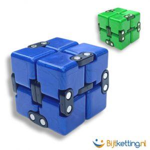 fidget kubus blauw